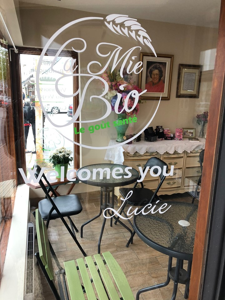 Window Lettering - La Mie Bio