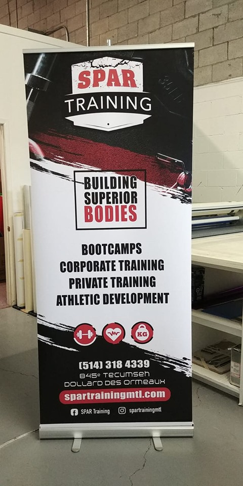 Spar Training - Retractable banners