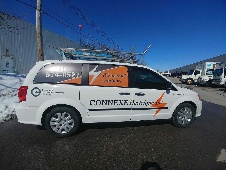 Vehicle Lettering - Connexe van...ready to go