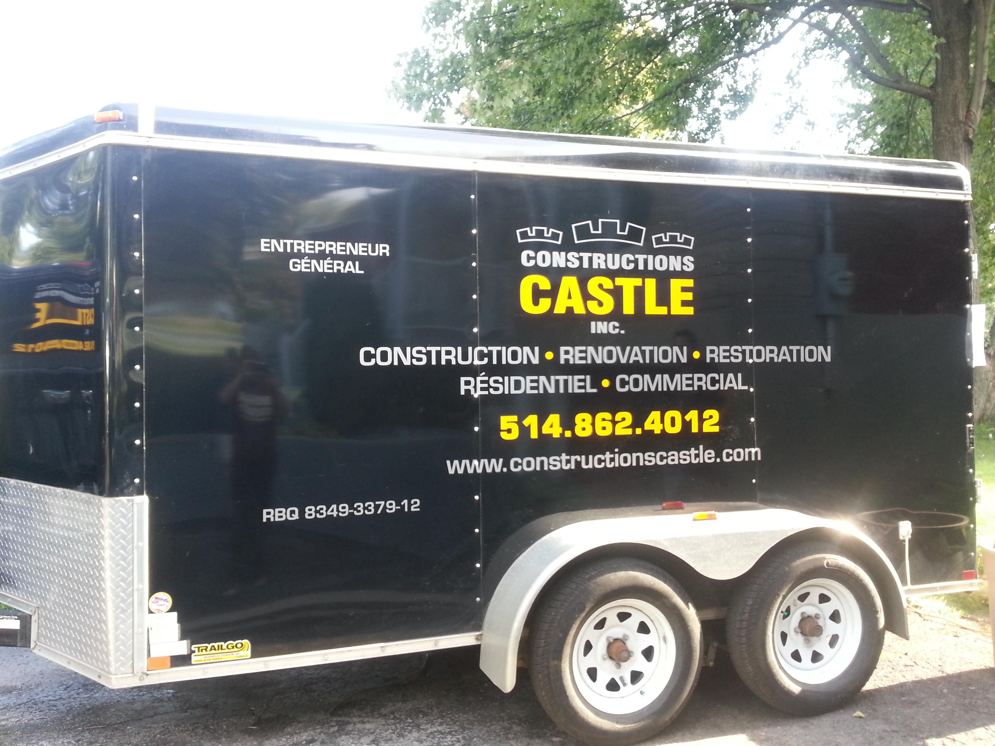 Vehicle Lettering - Castle Construction