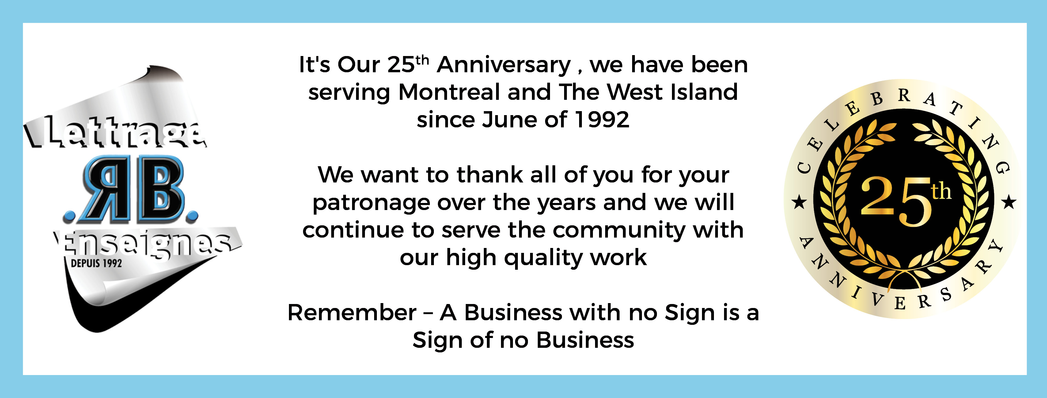 It's Our 25th Anniversary!